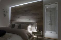 awesome headboards/back wall idea!