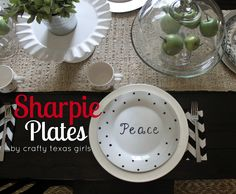 Shapie Plates by @Samantha Conner of Crafty Texas Girls