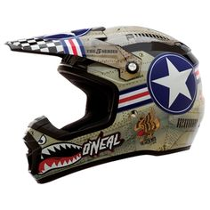 The sickest military fighter planes have been bottled up and used on your O'Neal 5 Series Wingman Motocross Helmet! An improved shell shape, more intricate graphics and better materials make this helmet well worth it.
