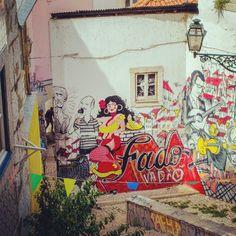 Street art, Alfama.Lisbon #Portugal #Lisbon #Lisboa #travel #streetart #travel