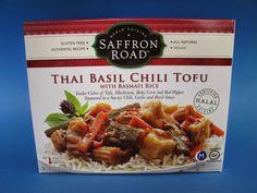 Saffron Road Thai Basil Chili Tofu with Basmati Rice.