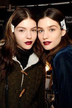dark lipstick at Vera Wang (© Michele Morosi / InDigitalteam)