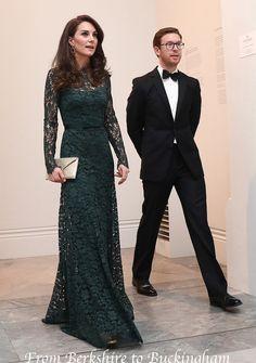 Kate Reveals Bespoke Lace Temperley for Portrait Gala