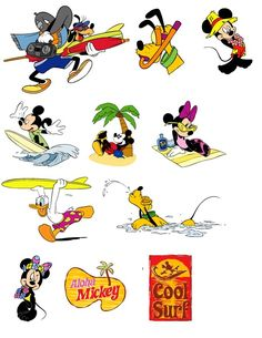 clipart garden theme | OT Mickey & Minnie Beach Theme Clipart - The DIS Discussion Forums ...
