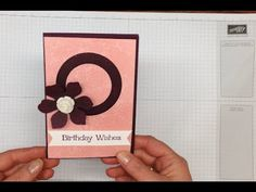 How to make a Circle Spinner card using Stampin' Up! supplies