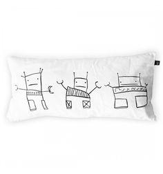 Trio of robots cushion