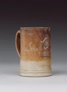 A Fulham saltglaze stoneware tavern jug dated 1756