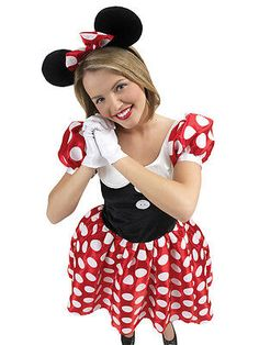 Adult #disney minnie mouse fancy #dress costume ladies #women female bn, View more on the LINK: http://www.zeppy.io/product/gb/2/190921913250/