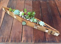 Planter Box from Recycled Wine Barrel Wood by PurpleThumbNotions, $57.00