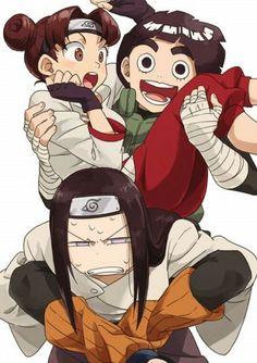 Rock Lee , Neji e Tenten Anime Naruto, Naruto Fan Art, Naruto Comic, Naruto Shippuden Sasuke, Anime Chibi, Tenten Y Neji, Naruto Cute, Naruto Gaiden, Sarada Uchiha