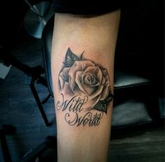 Chronic Ink Tattoo, Toronto Tattoo                                -  Realism rose and Lettering Done by OG Marilyn