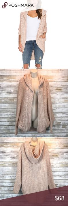 e2743822d4ae Free People coco cocoon ivory blush cardigan sz S
