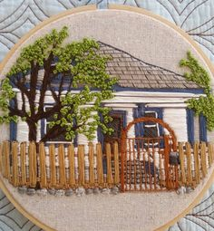 My first thread house complete and ready to ship to the lovely congratulations on your first home! Blackwork Embroidery, Learn Embroidery, Hand Embroidery Stitches, Embroidery Fashion, Hand Embroidery Designs, Embroidery Techniques, Ribbon Embroidery, Embroidery Art, Cross Stitch Embroidery