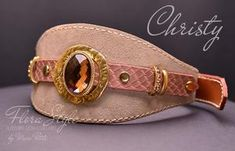 Christy - Exclusive Dog Collar - by Marc Petite Luxury Dog Collars, Designer Dog Collars, Dog Perfume, Perfume Testers, Amber Crystal, Handmade Dog Collars, Honey Colour, Medieval Fashion, Italian Greyhound