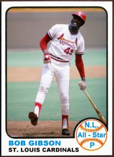 1973 Topps Bob Gibson All-Star. Baseball Cards That Never Were, St. Louis Cardinals