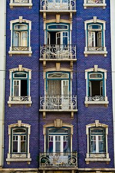 Cyber Grape colored houses. Lisbon, Portugal. Travel Photo. Home Decor. Wall Decor. Colorful. Maxiwow
