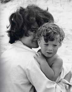 Caroline and her loving mother during a quite moment together at the beach near their summer home.