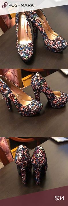 Ship hell's by Journeys Very Sexy Floral Netted 6 inch heels. Shi by JOURNEYS Shoes Heels