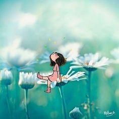 Cartoon Drawings, Art Drawings, Image Positive, Art Mignon, Illustration Artists, Cute Cartoon, Animated Gif, Cute Kids, Cute Art