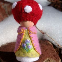 toadstool peg doll