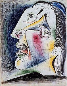 Pablo Picasso. La femme qui pleure 0. 1937 year