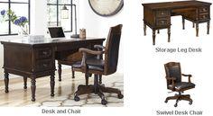 Ashley Porter Home Office Storage Leg Desk with Swivel Desk Chair Home Office Storage, Home Office Decor, Office Desk, Home Decor, Buy Chair, Desk Chair, The Porter, Dream Furniture