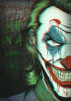 Happy Face iPhone by fullhdwallpapers Joker Images, Joker Pics, Joker Comic, Joker Art, Joker Clown, Comic Movies, Comic Book Characters, Joker Poster, M Wallpaper