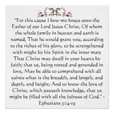 Ephesians 3:14-19. This is my constant prayer for my YoungLife girls