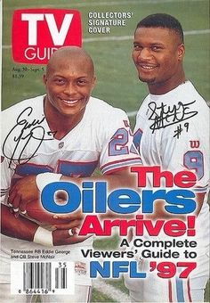 Sports Magazine Covers, Remember The Titans, Texans Football, Tv Covers, Houston Oilers, Nfl History, Magic Johnson, Larry Bird, Tennessee Titans