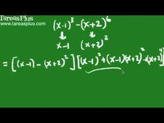 Factorización suma y diferencia de cubos perfectos