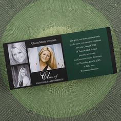 Occasions to Blog: Photo Graduation Announcements from Occasions In Print (Link - http://occasionsinprint.carlsoncraft.com/Graduation/index.cat)