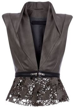 HAIDER ACKERMANN - Leather gilet