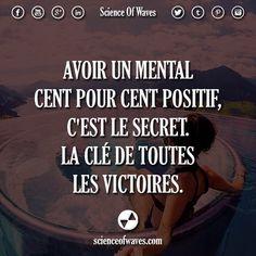 Avoir un mental cent pour cent positif, c'est le secret. La clé de toutes les victoires.  ou ? >> @adillaresh for more!