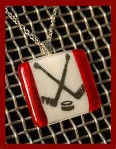 fused glass art hockey stick fused glass creation