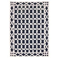 "D.L. Rhein Robertson 2'8"" x 3'9"" Blue and White Rug."