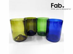 These make me smile ;)  LivingSocial Shop: Set of 4 Recycled Wine Bottle Tumblers
