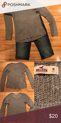 Hollister Knitted Sparkly Sweater Very Cute Sparkly Knit Hollister Sweater! Super Soft And Cozy! Worn once! Measurments: Length: 23.25 Bust: 34 Waist: 32 Sleeve Length: 21 Hollister Sweaters Crew & Scoop Necks