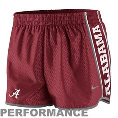 Nike Alabama Crimson Tide Womens Chainmaille Pacer Performance Shorts - Crimson
