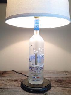 Upcycled Grey Goose Vodka Bottle Lamp by PetuniasCorner on Etsy