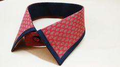 How to sew a shirt collar design Shirt Collar Pattern, Shirt Collar Styles, Collar Shirts, Tailoring Techniques, Sewing Techniques, Easy Sewing Patterns, Sewing Tutorials, Sewing Courses, Sewing Lessons