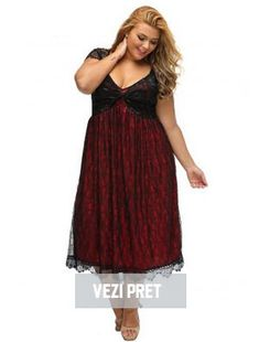 Elegant Lace Embellished Red Plus Size Dress Lace Bodice, Lace Skirt, Fat Women, Dress Silhouette, Vintage Glamour, Cocktail, Plus Size Dresses, Flare Dress, Dresses Online