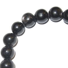 Natural Rainbow Noir Obsidian Gemstone Round Beads Stretch Bracelet AAAA 14 mm