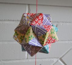 Kusudama origami mobile
