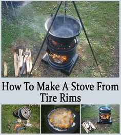 DIY Stove Made From Used Tire Rims - Ask a Prepper