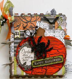 Halloween spooktacular mini book album - Scrapbook.com