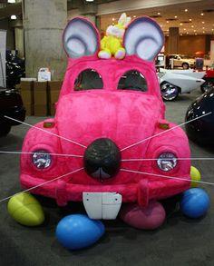 Furball madness - bunny art cars. http://artcarcentral.com/easter-bunny-furball-art-car-madness-and-more/