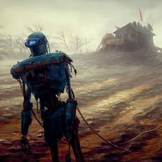 Fallout 4: Farming Bot, Ilya Nazarov on ArtStation at https://www.artstation.com/artwork/6xvvn