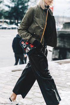 PFW-Paris_Fashion_Week_Fall_2016-Street_Style-Collage_Vintage-Bomber-Leather_Trousers-