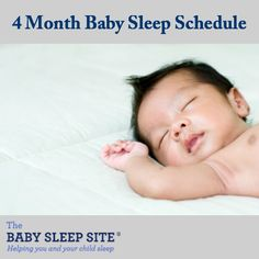 Baby sleep and nap schedule for 4 month old baby.