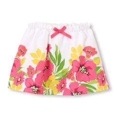 floral paperbag waist skort